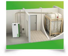 caldera condensación silo textil