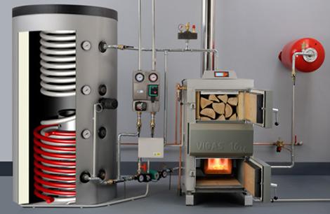 instalación caldera de gasificación
