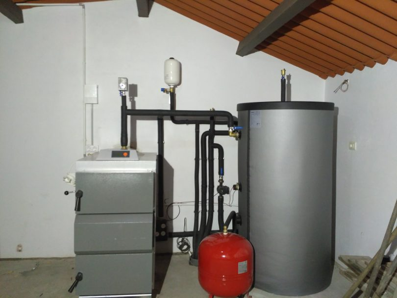 Caldera Leña Gasificación (Llama invertida) en Tomiño