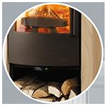 estufa leña regulación automática