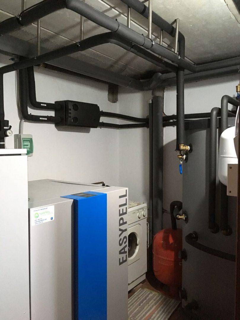 Caldera de Pellets Easypell 32kW  Vivienda Unifamiliar en Ponteareas