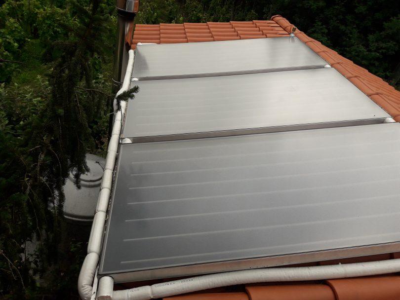 Instalación solar térmica en Cenlle