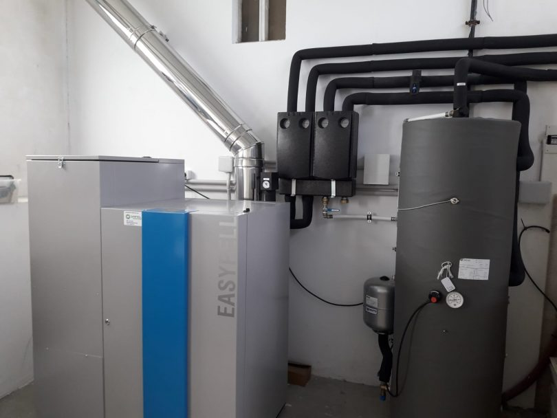 Caldera de pellets Easypell 32KW en Vigo