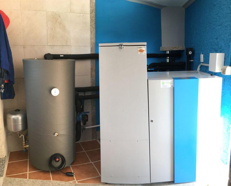 Sustitución de caldera de pellets por Easypell 20KW en Caldas de Reis
