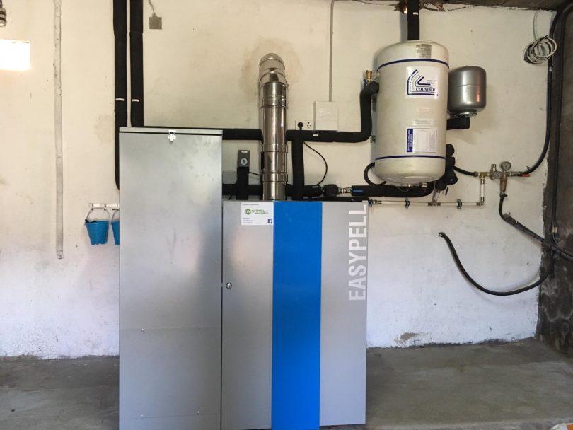 Caldera de Pellets Easypell 20kW instalada en Tomiño